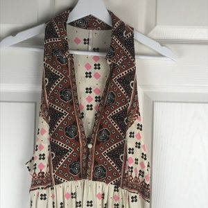 Free People Tops - Free People Charlotte Mixed Color Print Top Tunic